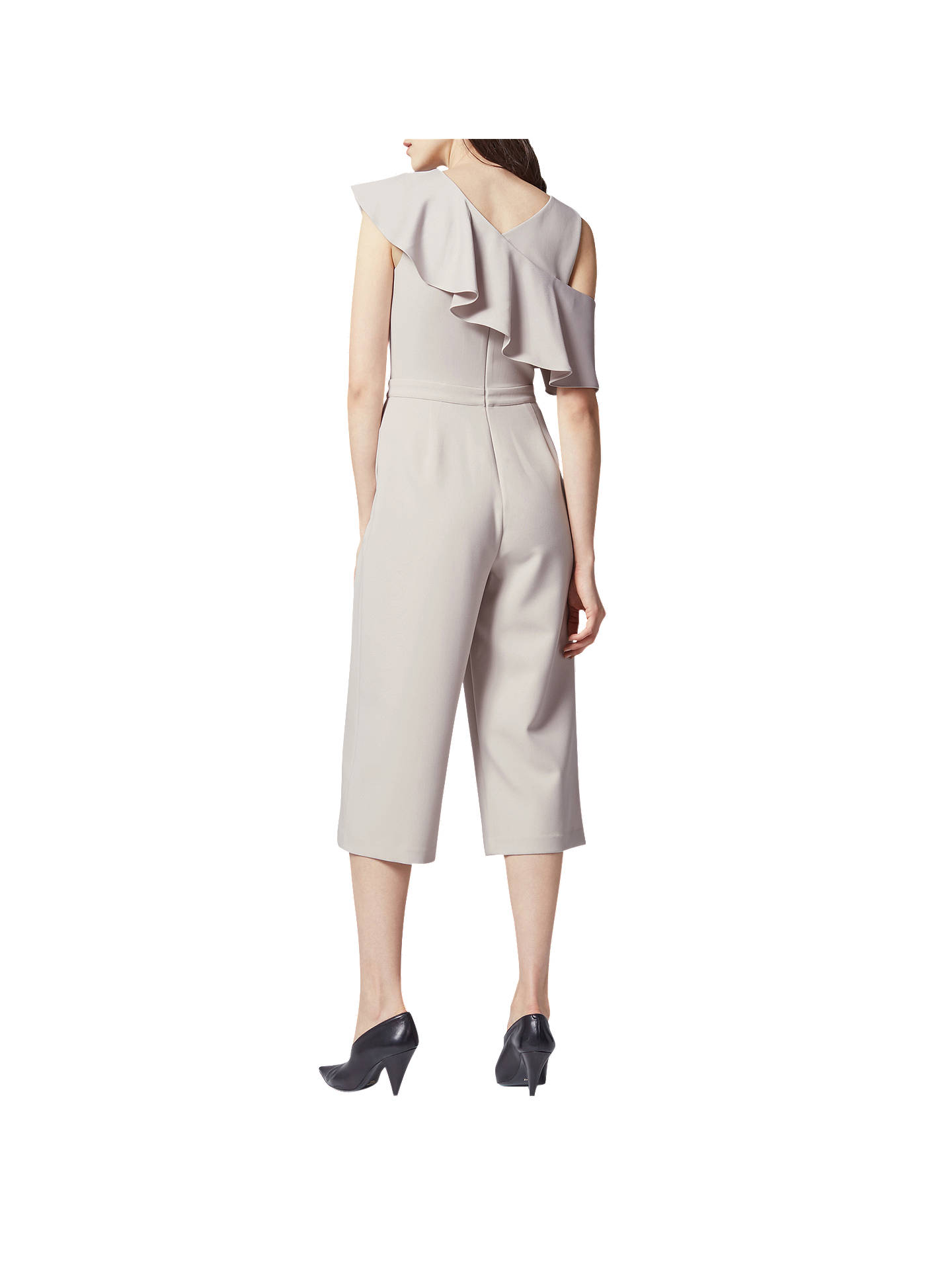 BuyWarehouse Asymmetric Ruffle Jumpsuit, Light Grey, 6 Online at johnlewis.com