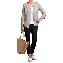 Buy Pure Collection Gassato Cashmere Ribbed Cardigan Online at johnlewis.com