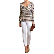 Buy Pure Collection Printed Gassato Jumper, Marble Animal Stripe Online at johnlewis.com