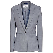 Buy Reiss Nicola Check Single Breasted Blazer, Light Blue Online at johnlewis.com