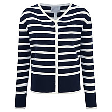 Buy Pure Collection Double Faced Cotton Cashmere Jacket, Navy/White Online at johnlewis.com