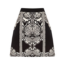 Buy Oasis Poppy Tribal Print Skirt, Black/Multi Online at johnlewis.com