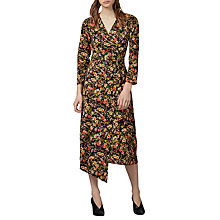 Buy Warehouse Sidney Wrap Floral Dress, Black Pattern Online at johnlewis.com