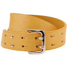 Buy Hobbs Blake Leather Belt, Ochre Online at johnlewis.com