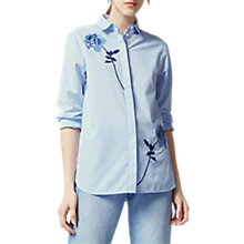 Buy Warehouse Rose Embroidered Rose Shirt Online at johnlewis.com