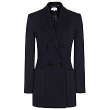 Buy Reiss Mills Textured Double Breasted Blazer, Night Navy Online at johnlewis.com
