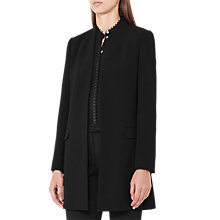 Buy Reiss Venn Side Split Jacket, Black Online at johnlewis.com