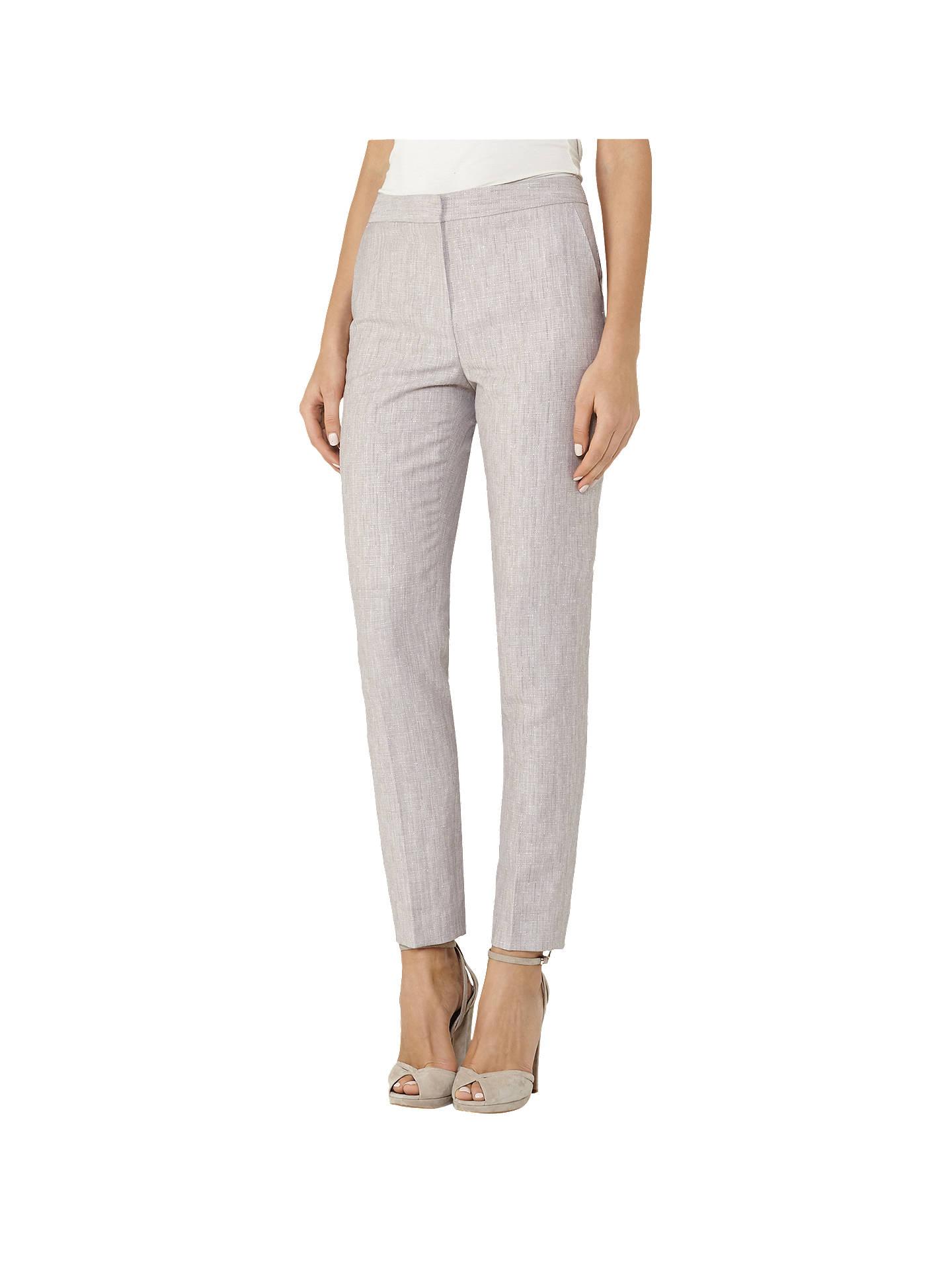ac794bece88 Reiss Virginia Trousers, Pink Grey at John Lewis & Partners