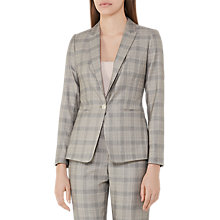 Buy Reiss Webb Heritage Check Tailored Jacket, Grey/Black Online at johnlewis.com