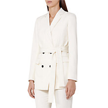 Buy Reiss Angie Contrast Button Jacket, Off White Online at johnlewis.com