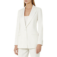 Buy Reiss Rox Tailored Tux Jacket, Off White Online at johnlewis.com