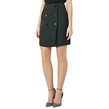 Buy Reiss Saffron Button A-Line Skirt, Forest Green Online at johnlewis.com
