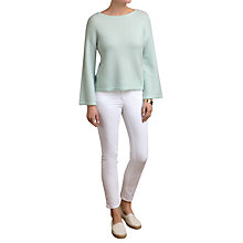 Buy Pure Collection Flute Sleeve Sempre Jumper, Sea Mist Online at johnlewis.com