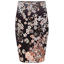 Buy Phase Eight Kyoto Floral Skirt, Black/Multi Online at johnlewis.com