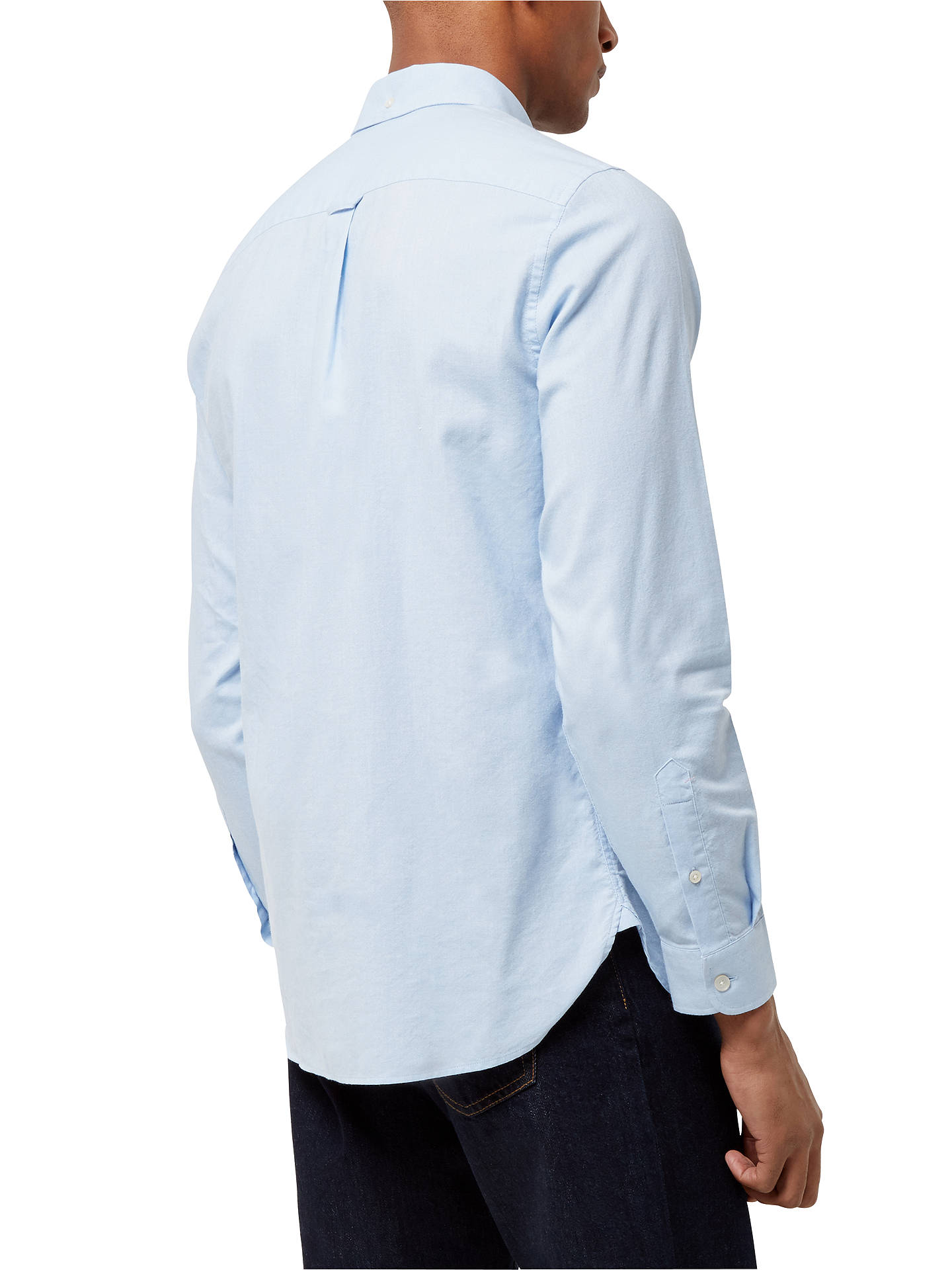 BuyJaeger Soft Touch Oxford Shirt, Light Blue, S Online at johnlewis.com