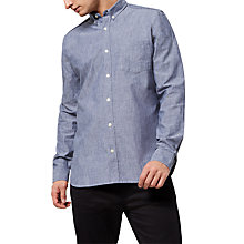 Buy Jaeger Chambray Regular Fit Shirt, Blue Online at johnlewis.com