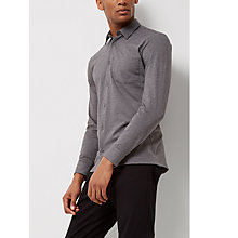 Buy Jaeger Jersey Cotton Regular Fit Shirt, Grey Online at johnlewis.com