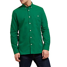 Buy Jaeger Soft Touch Oxford Shirt, Green Online at johnlewis.com