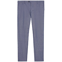 Buy Jaeger Cotton Chambray Slim Fit Trousers, Chambray Online at johnlewis.com