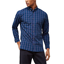 Buy Jaeger Windowpane Check Shirt, Indigo Online at johnlewis.com