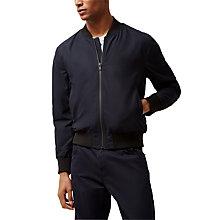 Buy Jaeger Nylon Bomber Jacket, Navy Online at johnlewis.com