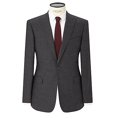 Kin by John Lewis Elm Check Slim Fit Suit Jacket, Charcoal