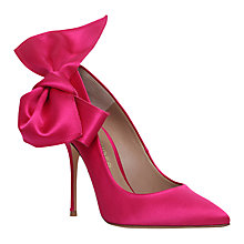 Buy Kurt Geiger Evie High Heel Court Shoes, Hot Pink Satin Online at johnlewis.com