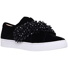 Buy KG by Kurt Geiger Ocean Embellished Trainers, Black Online at johnlewis.com