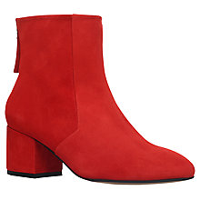 Buy Carvela Slim Block Heeled Ankle Boots, Red Online at johnlewis.com