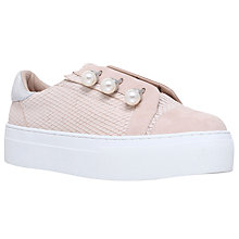 Buy KG by Kurt Geiger Orla Flatform Trainers, Nude Online at johnlewis.com