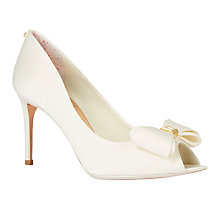 Buy Ted Baker Tie the Knot Alifair Peep Toe Bow Sandals, Cream Online at johnlewis.com