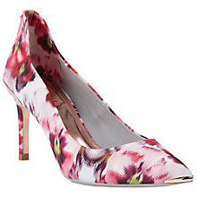Buy Ted Baker Vyixin Expressive Pansy Court Shoes, Multi Online at johnlewis.com