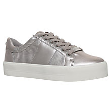 Buy Carvela Lint Flatform Trainers, Pewter Online at johnlewis.com