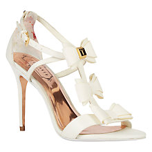 Buy Ted Baker Appolini Tie the Knot Bow Stiletto Sandals Online at johnlewis.com