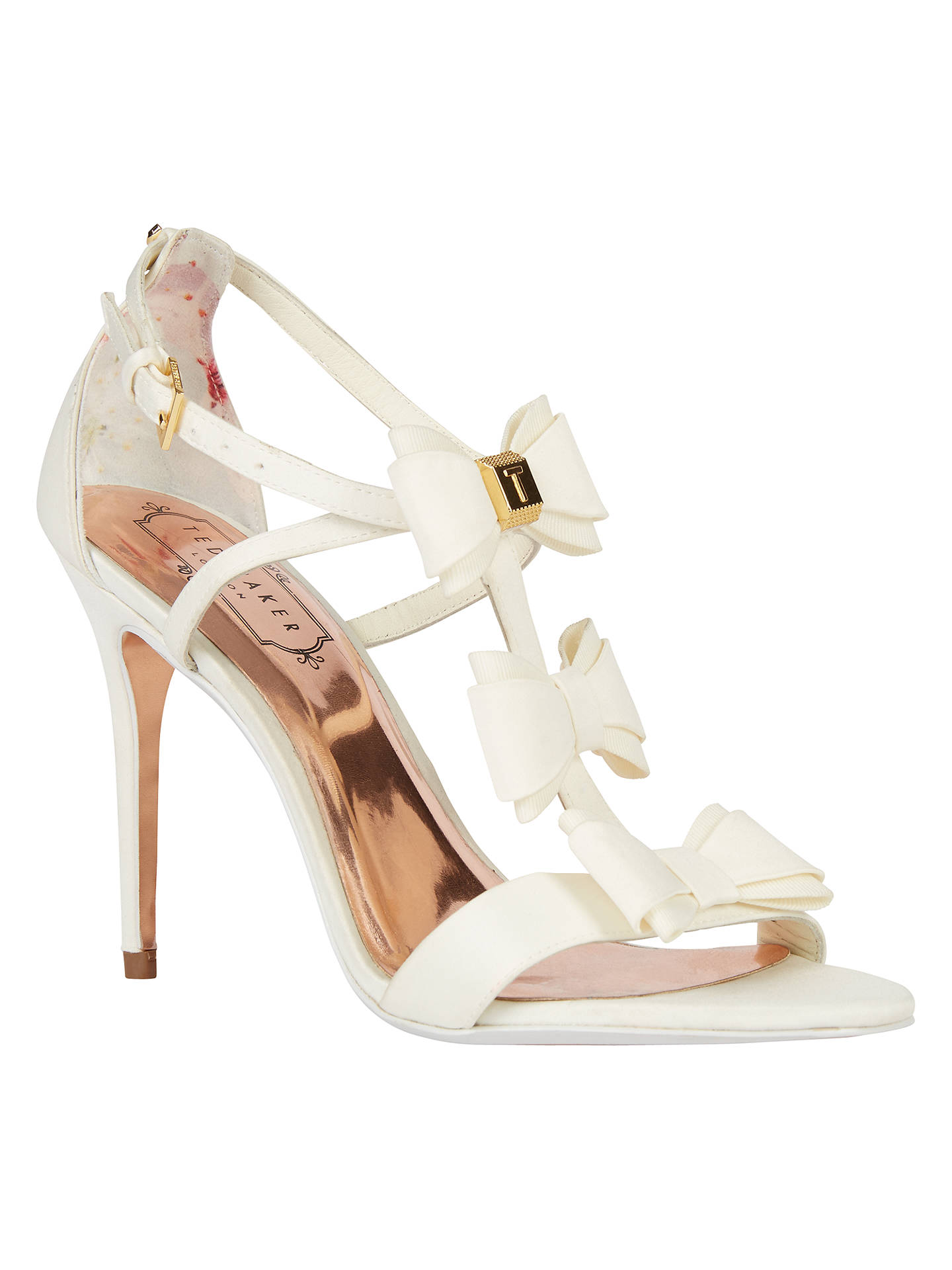 679f95711c61 Ted Baker Tie the Knot Appolini Bow Stiletto Sandals at John Lewis ...