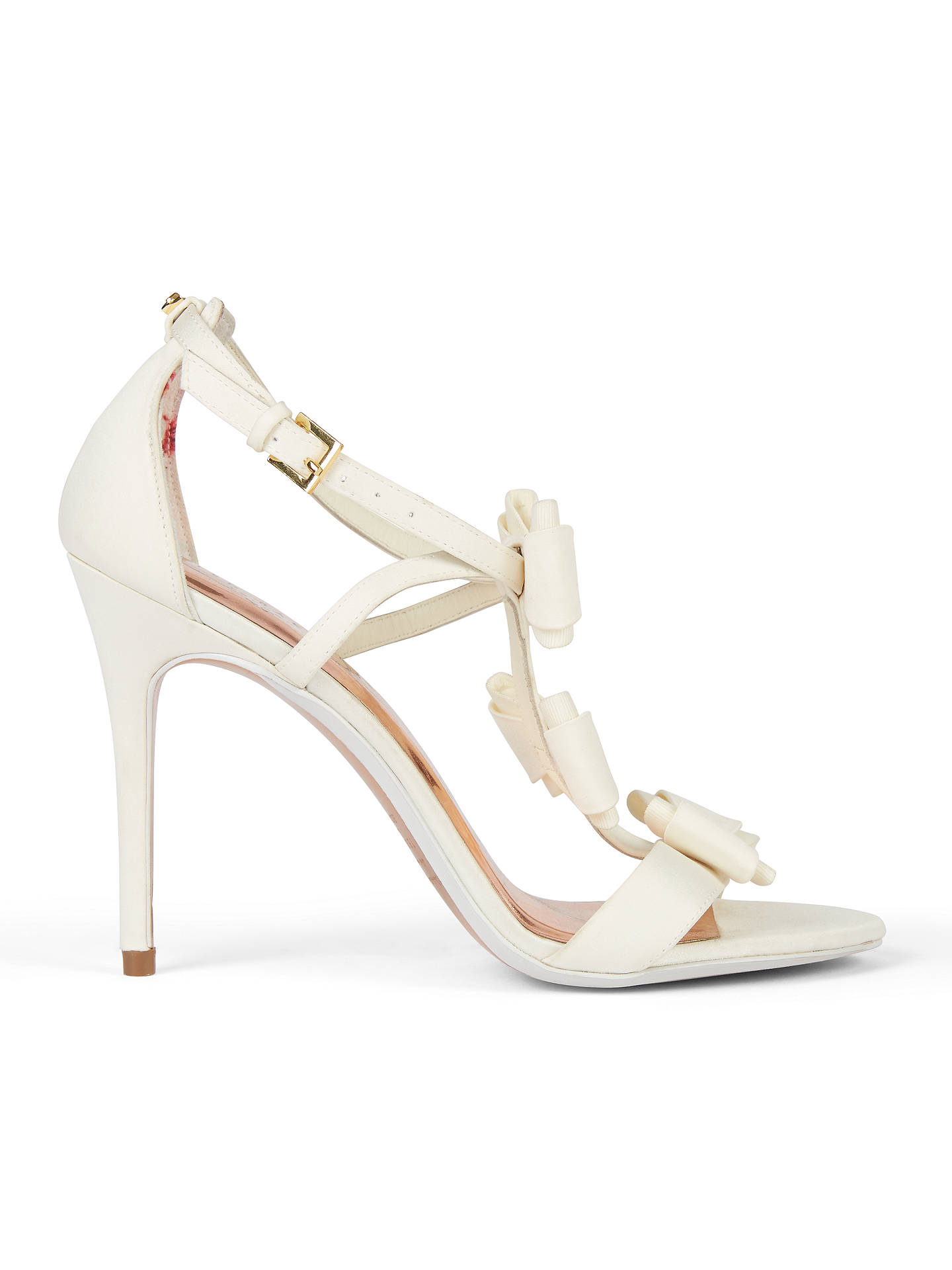 02f72a336ea Ted Baker Tie the Knot Appolini Bow Stiletto Sandals at John Lewis ...