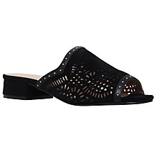 Buy KG by Kurt Geiger Mojave Cut Out Sandals, Black Online at johnlewis.com