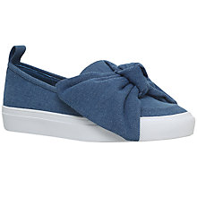 Buy KG by Kurt Geiger Lust Bow Slip On Trainers, Blue Online at johnlewis.com