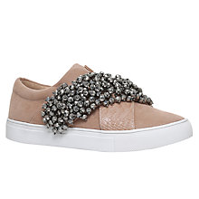 Buy KG by Kurt Geiger Ocean Embellished Trainers, Nude Online at johnlewis.com