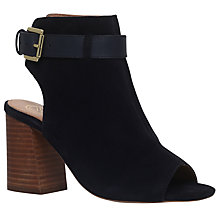 Buy KG by Kurt Geiger Ripple Peep Toe Ankle Boots, Navy Online at johnlewis.com