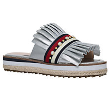 Buy KG by Kurt Geiger Madamme Mule Sandals, Silver Online at johnlewis.com