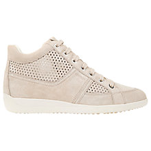 Buy Geox Myria High Top Trainers, Light Taupe Online at johnlewis.com