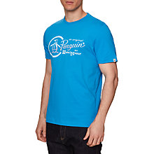 Buy Original Penguin Gradient Combo Logo T-Shirt, French Blue Online at johnlewis.com