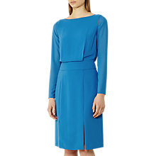 Buy Reiss Alessa Split Front Dress, Bright Blue Online at johnlewis.com