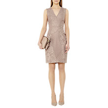 Buy Reiss Romy Lace Panelled Bodycon Dress, Ash Online at johnlewis.com