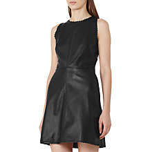 Buy Reiss Sahara Leather Dress, Black Online at johnlewis.com