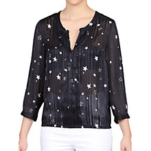 Buy Jolie Moi Star Print Pleated Blouse Online at johnlewis.com