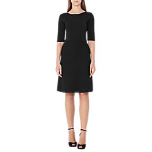 Buy Reiss Celestia Structured Knit Dress, Black Online at johnlewis.com