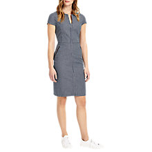 Buy Phase Eight Magda Stripe Dress, Blue/White Online at johnlewis.com