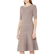 Buy Reiss Karolina Knitted Dress, Mink Online at johnlewis.com
